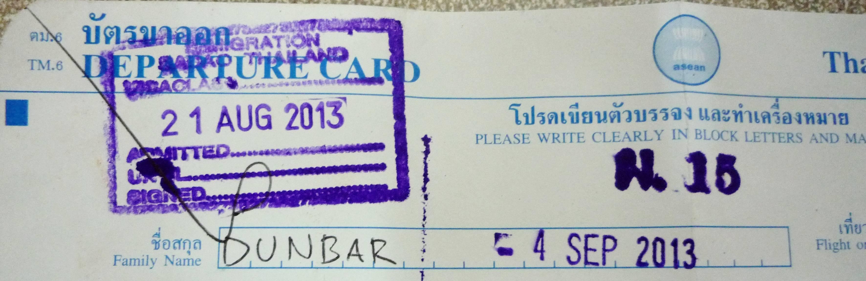 thai visa stamp