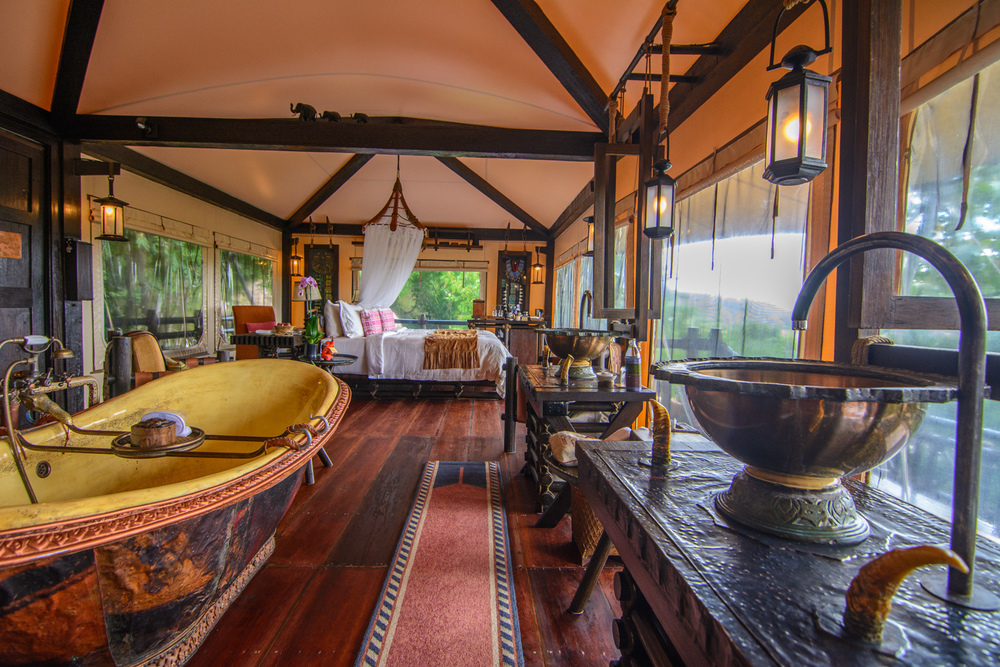 Four Seasons Tented Camp - $2,000/person nightly. Lucky enough to spend two nights here! Complete bliss...